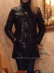 Кожаная курточка на  синтепоне