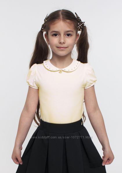 Трикотажная блузка Smil с коротким рукавом молочная