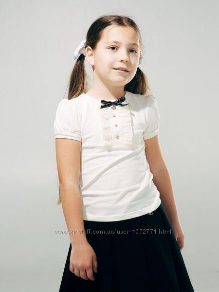 Блузка Smil с коротким рукавом 114599 молочная