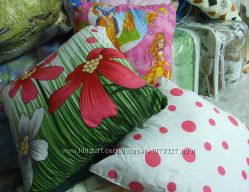 Подушка, холлофайбер, шариковый силикон