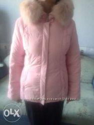 Куртка пуховая с песцом р. 46-48