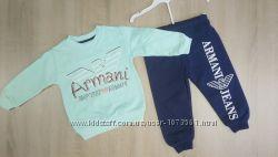 Спортивный костюм Armani, 1, 5-5 л. , мятный, розовый
