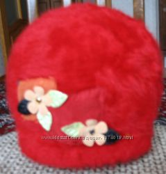 шапка BOSCAP новая пуховая