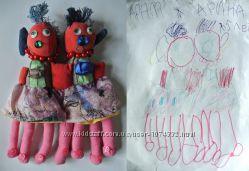 Шью игрушки по детским рисункам Игрушки под заказ Взрослым тоже