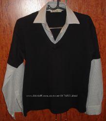 Комбинированная рубашка для мальчика рост 164