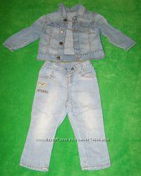 Джинсовый пиджак и джинсы Gee Jay мальчику р-р 912 месяцев 80 см