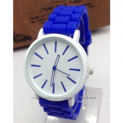 Часы Женева Кварц с силиконовым ремешком