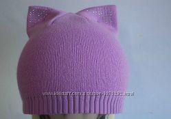 шапка детская кошка