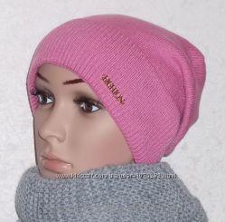 шапка Карина. Только светло-розовый