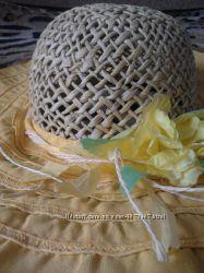 Красивая желтая летняя шляпка