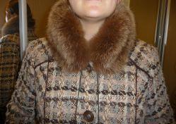 Пальто, натуральная шерсть и песец