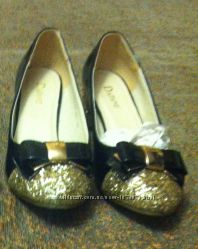 Туфли лакированные с напылением