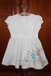 Очень легенькое и красивое платье  C&A на 92 рост 2 года