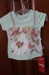 Красивый комплект джинсовая юбка и хлопковая футболочка на 1-2 года