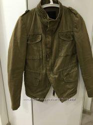 Куртка котон ЗАРА милитари стиль размер S