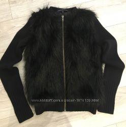 Меховая куртка French Connection с шерстяными рукавами, размер S