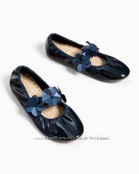 Новые балетки ZARA, кожзам, 38 размер, стелька 24, 2 см
