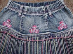Джинсовая юбочка на девочку