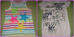 Яркие футболки майки для маленькой модницы