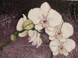 картина олійними фарбами Орхідеї 30х40