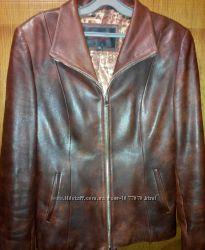 Куртка-пиджак кожанный на молнии
