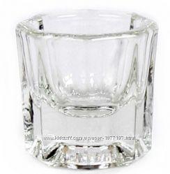 Стеклянная емкость стаканчик для окрашивания бровей и ресниц