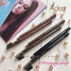 Водостойкие карандаши для бровей со щеточкой Aden cosmetics оригинал