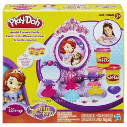 Play Doh Amulet and Jewels Vanity Set Featuring Sofia Плей До София