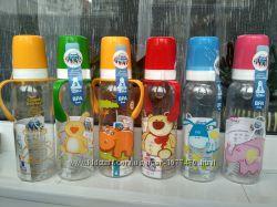 Бутылочки Canpol и Baby Nova стекло и пластик 250, 330 мл