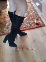 Сапоги Carnaby осень натуральная замша 37-38 размер