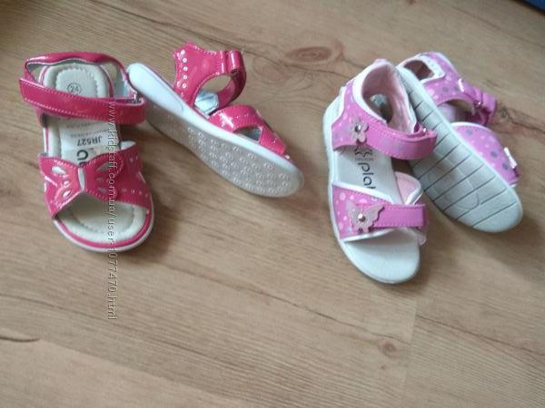 Босоножки сандалии внутри кожа на девочку 25 р новые в наличии
