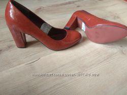 Туфли туфельки Cube терракот коричневые женские 36-37 р новые