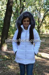 Женская куртка Memory длинная со съёмным капюшоном с мехом