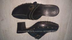 новые супер стильные клоги стукалки черные кожа евро Esprit