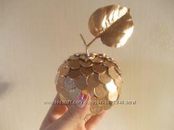 Золотое яблоко из копеек