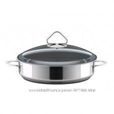 Сковорода с 2мя ручками из нержавеющей стали с термораспределительным дном