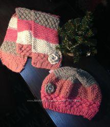 Теплый берет и шарф Accessorize, 8-12 лет.