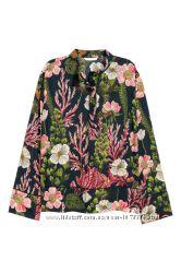 Блуза рубашка темная xs s 36 кофточка реглан свободная