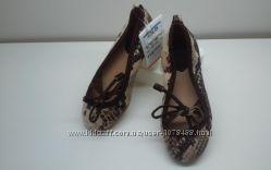 Фирменные туфельки для маленькой модницы ZARA,  р. 24