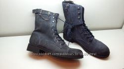 GEOX Демисезонные высокие ботинки, кожа, 25, 5 см по стельке
