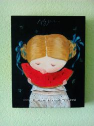 Гапчинская Е. картина на подарок Арбузик, копия маслом