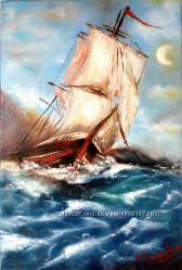 Картина маслом Адмирал
