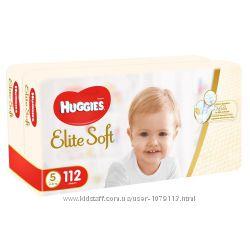 Подгузники детские Huggies Elite Soft 5, 12-22 кг 112 шт