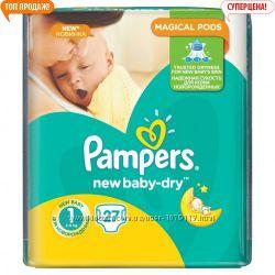 Подгузники памперс актив - беби размер 1, 2.