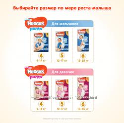 Подгузники- трусики  для малышей Huggies Ultra Comfort