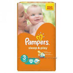 Подгузники PAMPERS Sleep & Play Junior 3, 4, 5
