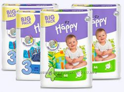 Подгузники детские Happy 2. 3. 4. 5. 6 Дешевая доставка