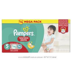 Подгузники-трусики Pampers Памперс Pants 4, 5, 6