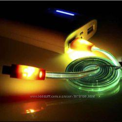 Smile светящийся Micro USB кабель для HTC, SAMSUNG, NOKIA.