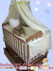 Все для сна Кроватка маятник Наталка , матрас кокос, постельный набор